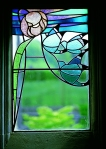 BW dining room stained glass -®LAT