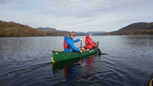 Canoeing on Coniston Water